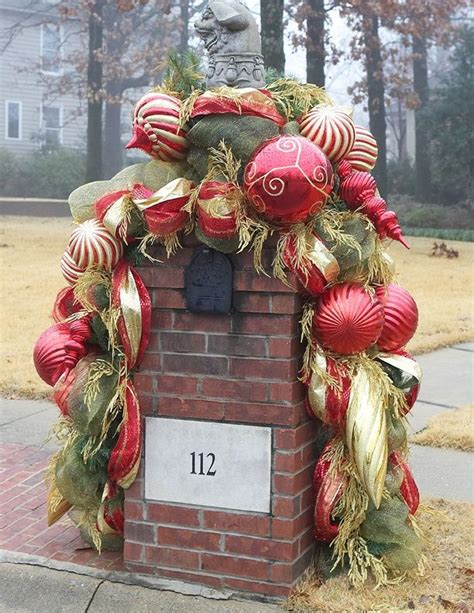 festive holiday mailbox decoration ideas artisan crafted