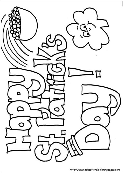 st patricks day coloring sheets free coloring pages of happy st patricks day