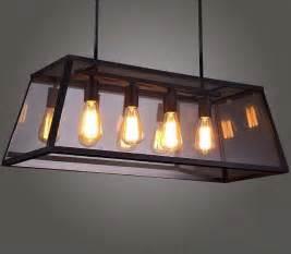 Edison Bulb Track Lighting by Rh Loft Edison Box Chandelier Rectangular Pendant Lamp