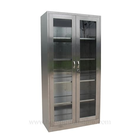 Stainless Steel Bookcase With Glass Door Buy Stainless
