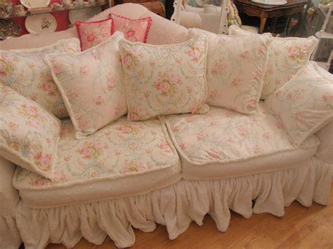 shabby chic sofa ideas shabby chic sofa covers rachel ashwell white denim sofa