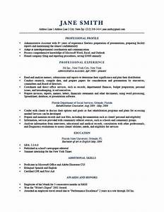 Marketing Profile Resume Sample