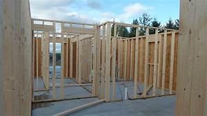 Interior Wall Framing, Garage Radiant Heat Tubing