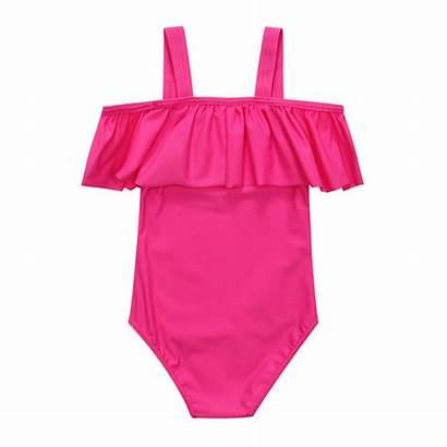 Piece Swimsuit Swimwear Suit Ruffle Bathing Soft