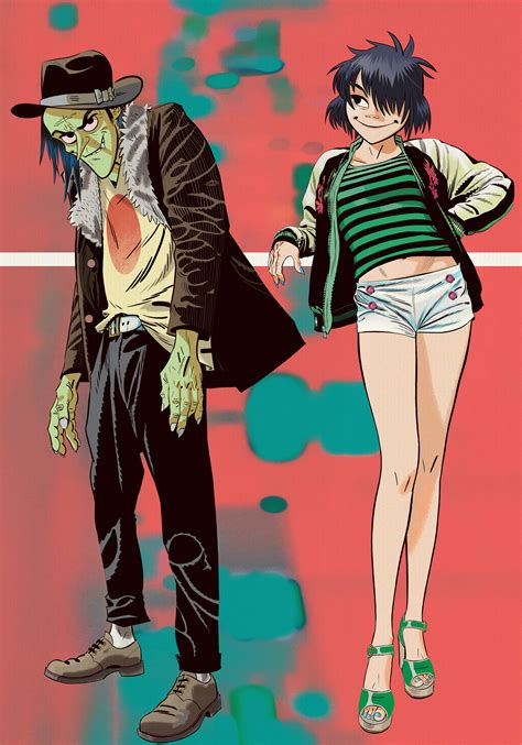 gorillaz noodle jamie hewlett ace phase noodles interview band drawing future album artist fighting know machine wepresent illustration drawings together