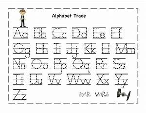 trace alphabet letters for children activity shelter With alphabet letters to trace