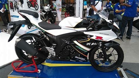 Modifikasi R Putih by Modifikasi Gsx R150 Putih Cantik Merona