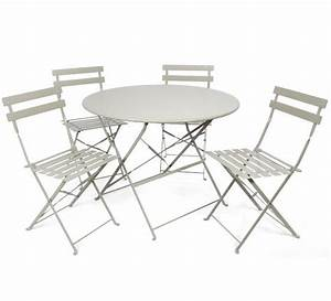 Table Pliante Metal : salon de jardin metal pliant table jardin en teck maison ~ Teatrodelosmanantiales.com Idées de Décoration