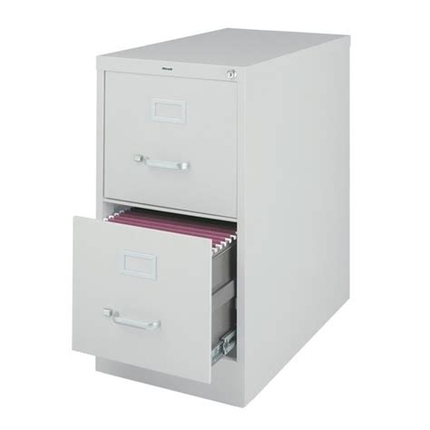 hirsh industries vertical files 2 drawer letter file cabinet in gray 14417