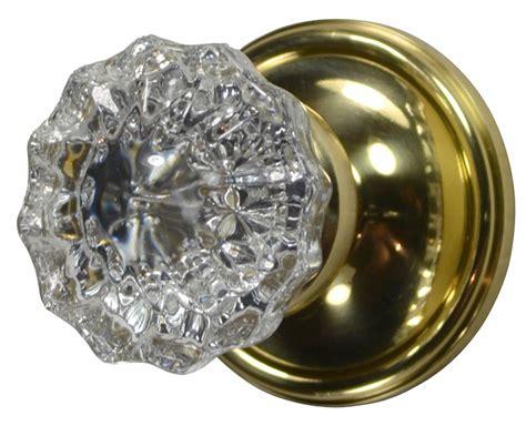 glass door knob regency fluted glass door knob plate polished