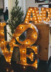 37 approaches to use marquee lights at your wedding With wooden marquee letters
