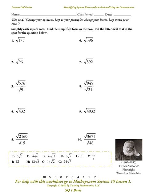 8 Best Images Of Square Root Worksheet Printable  Square Root Worksheets, Square Root