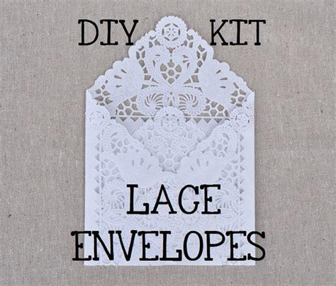 diy kit for a set of 100 lace wedding invitation envelope