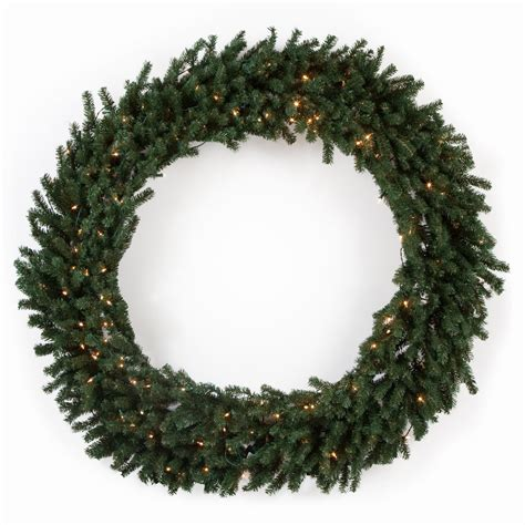 60 in classic pine pre lit wreath at hayneedle
