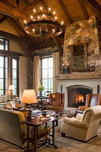 comfortable rustic living room with warm situation traba With warm and inviting rustic living room ideas
