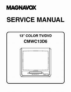 Magnavox 6520fde Ewc20d4 Msd520fe Color Tv
