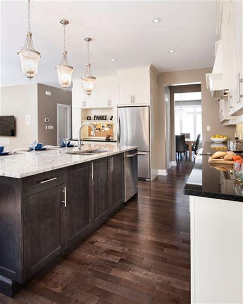 light kitchen cabinets  dark floors