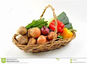 Organic Fresh Vegetable In A Basket Royalty-Free Stock ...