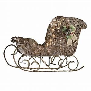 Shop Holiday Living 1-Piece 2-ft Sleigh Outdoor Christmas