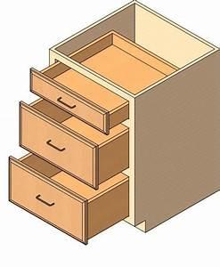 RevitCity com Object Drawer Base Cabinet, 3 drawer