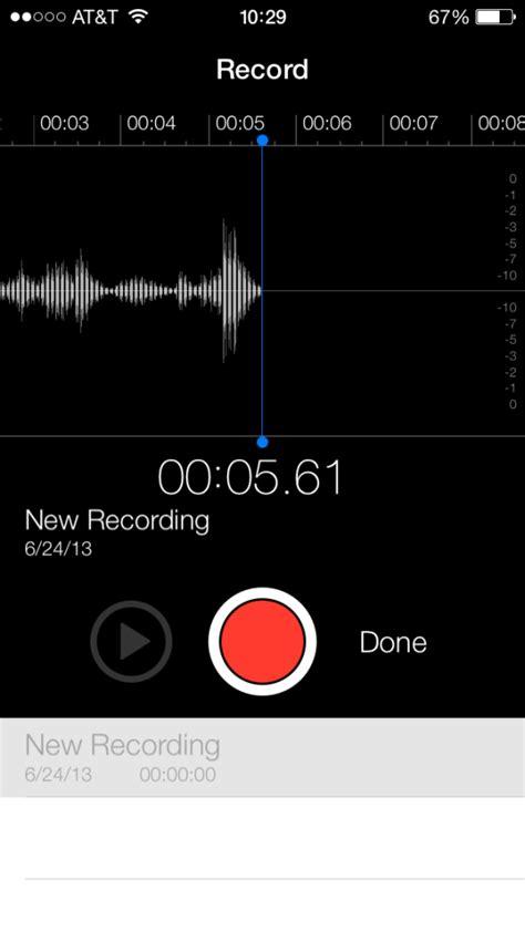 voice app iphone voice memos app returns in ios 7 beta 2