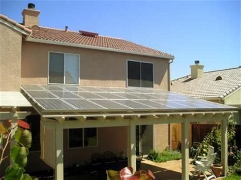 solar panels on patio cover backyard ideas