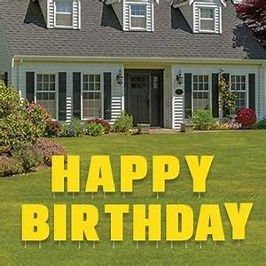 happy birthday letters yard card set victorystorecom With happy birthday letters for yard