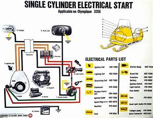 Vintage Snowmobile Wiring Diagram