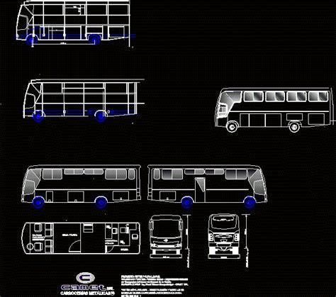 mobil police bus mfg  camet  bolivia dwg block