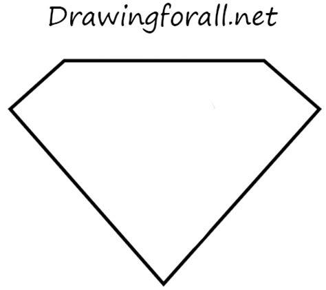 draw  superman logo drawingforallnet