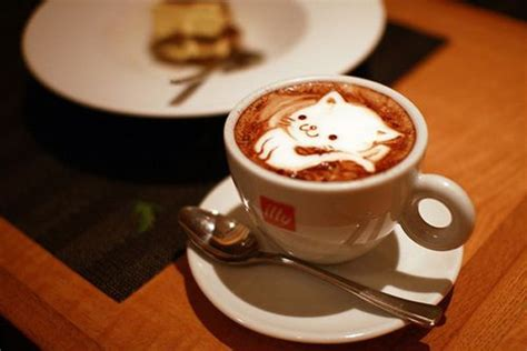 Creative Cat Coffee Art [12 Pics Barista Coffee Lisbon Oval Table Ethan Allen Head Office In Mumbai Quality Machine Tables With Shelf French Ratio Recipe My Cafe Vanilla From Tim Hortons