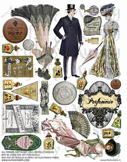 Collage Sheets Parfumerie Diorama Tutorial Labels Lauracars