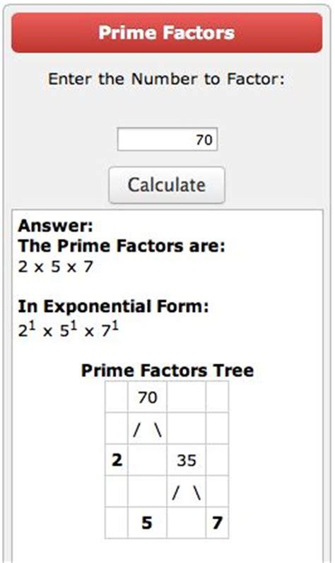 prime factorization tree calculator classroom pinterest