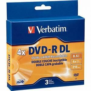 Double Layer Dvd : verbatim dvd r dual layer 8 5gb 3 95165 b h photo video ~ Kayakingforconservation.com Haus und Dekorationen