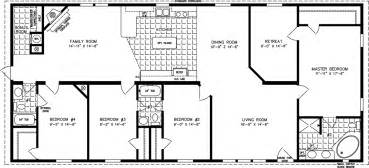 1500 square foot floor plans four bedroom mobile homes l 4 bedroom floor plans