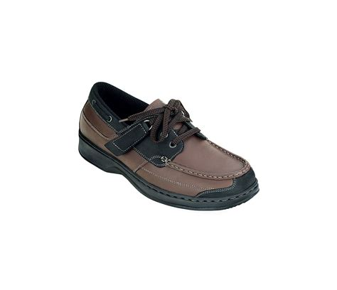 Boat Shoes Tie by S Boat Shoe Tie Less Lace Brown Black Dtf Diabetic