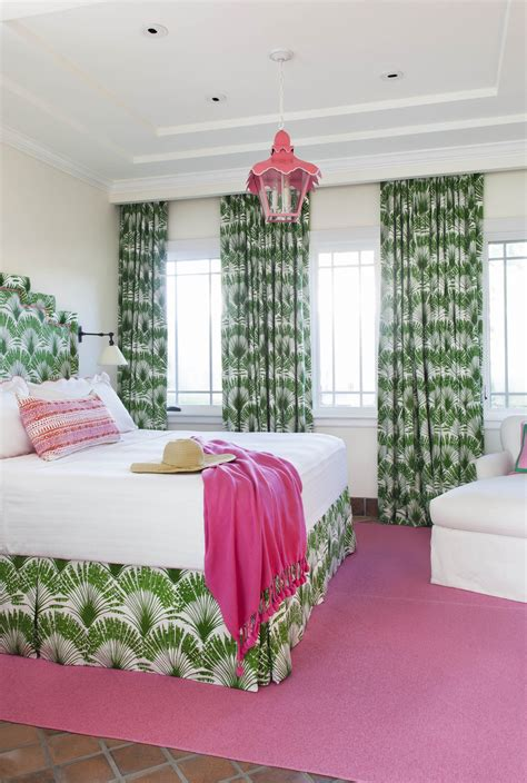 bold green  pink living  bedroom interiors  color