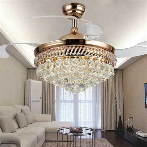 ceiling fan chandelier modern remote retractable ceiling fan