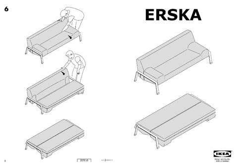 how to assemble ikea sofa bed erska sofa bed skiftebo orange ikea united states