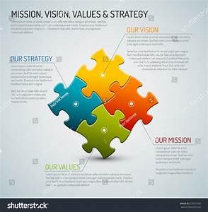 Vector Company Core Values Mission Vision Stock Vector