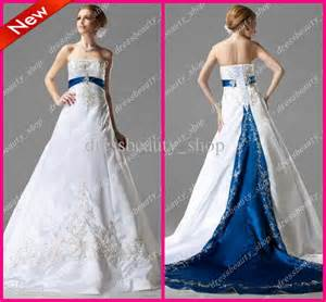 royal blue and white wedding dresses white and royal blue wedding dresses dress ty