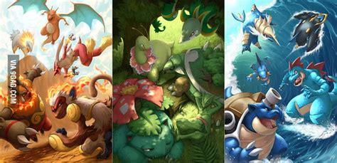 pokemon starters final evolution  drake tsui gag