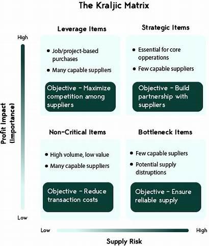 Kraljic Marketing Matrix Supply Suppliers Procurement Managing