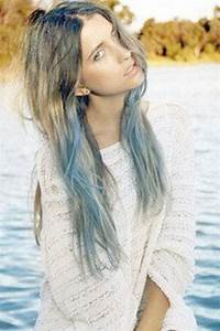 Dip Dye Hair Light Brown Light Blue Dip Dyed Hair Extensions For Brunette Hair 20 22