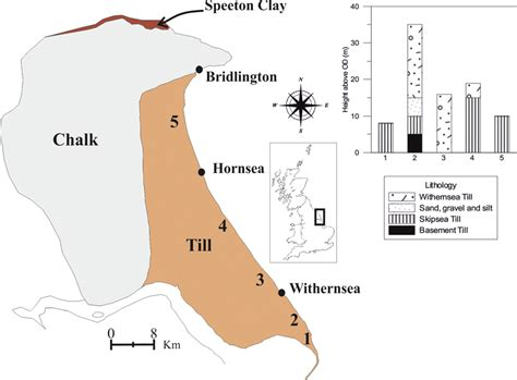 Location And Geological Sketch Of The Holderness Coast