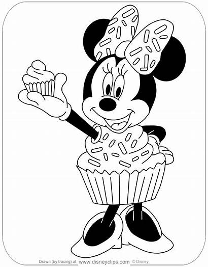 Halloween Coloring Minnie Disney Pages Cupcake Pdf