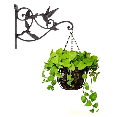 If you are searching for ways to make a small space both functional and attractive, you should consider using hooks in creative ways. Hanging Plant Hook Hummingbird Cast Iron Decorative Flower Basket Wall Hanging Hooks Bracket ...
