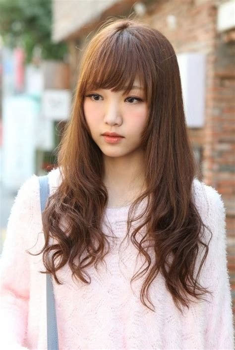 inspirations  korean girl long hairstyles