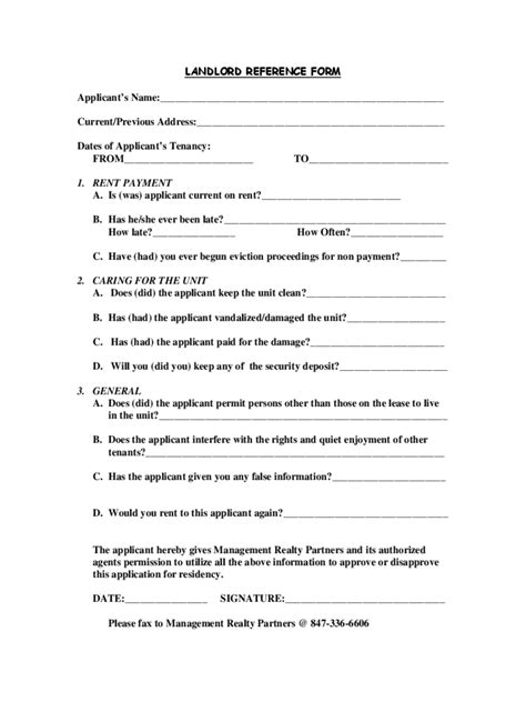 rental reference form   templates   word
