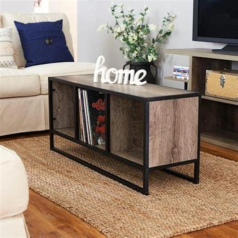Even in a bigger living room, you can never have too much storage space. Ashwood Light Wood and Black Open Cubby Coffee Table | MrOrganic Store